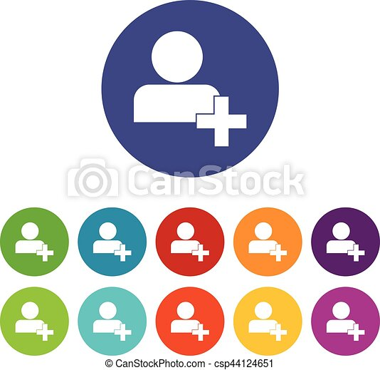 add new user account set icons add new user account or add rh canstockphoto ca icon clipart vector thinking icon clip art