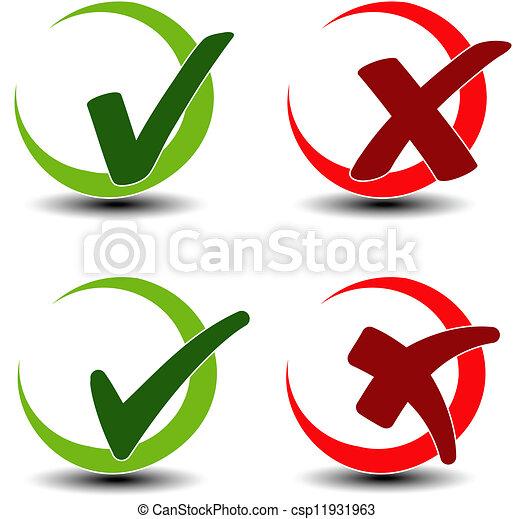 add remove circular item - check mark symbol - csp11931963