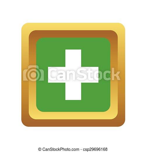 Add square button, volumetric - csp29696168