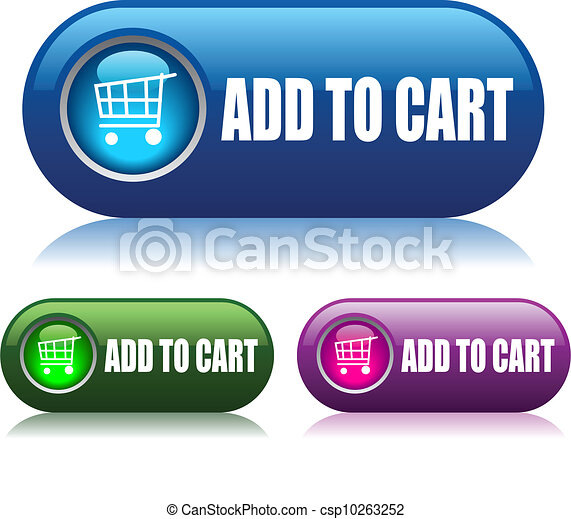Add to cart vector buttons - csp10263252