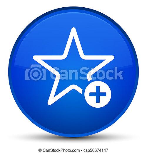 Add to favorite icon special blue round button - csp50674147
