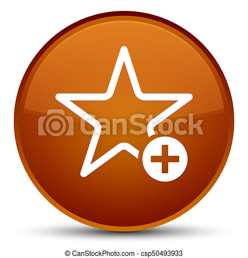 Add to favorite icon special brown round button - csp50493933