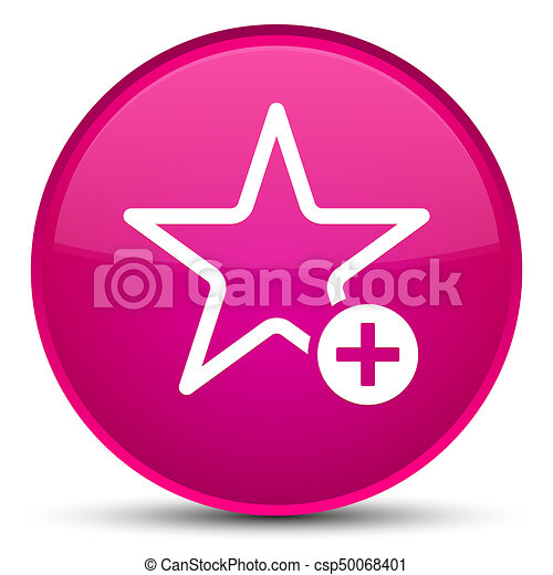 Add to favorite icon special pink round button - csp50068401