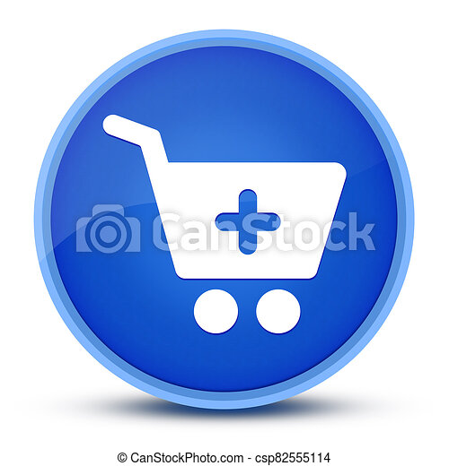 Add to shopping cart icon isolated on special blue round button abstract - csp82555114