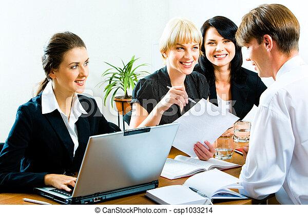 addestramento, affari - csp1033214