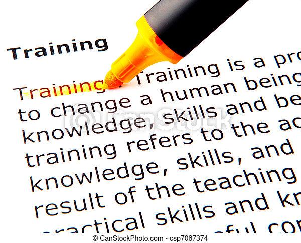 addestramento - csp7087374