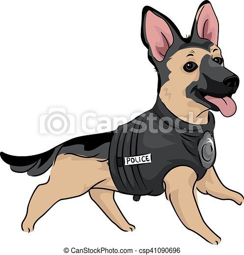 Addestramento Cane Poliziotto Canino Carino Addestramento