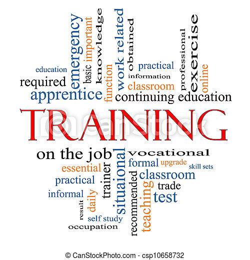 addestramento, concetto, parola, nuvola - csp10658732