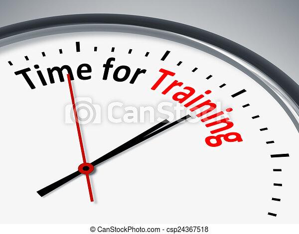 addestramento, tempo - csp24367518