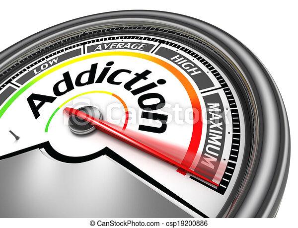 addiction conceptual meter - csp19200886