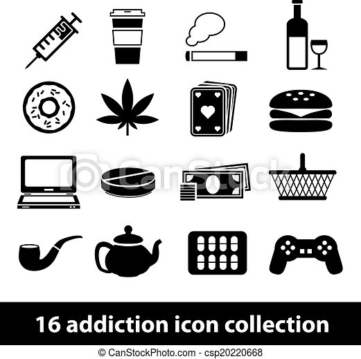 addiction icons - csp20220668