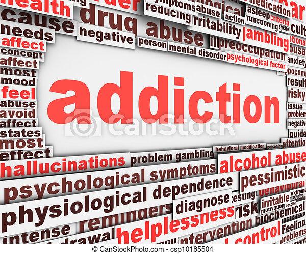 Addiction message design - csp10185504