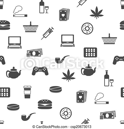 addiction seamless pattern - csp20673013