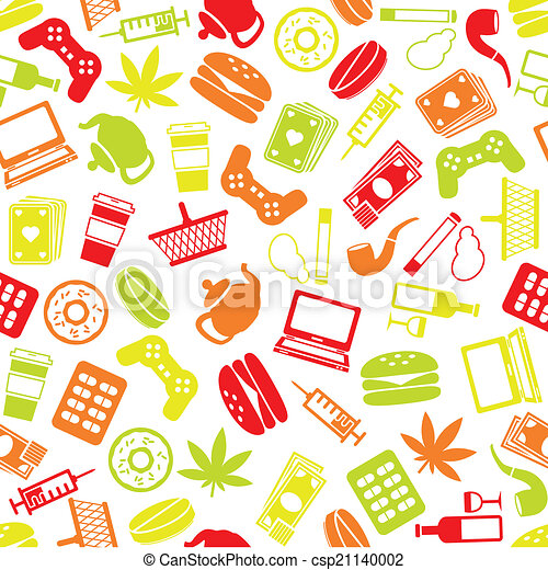addiction seamless pattern - csp21140002