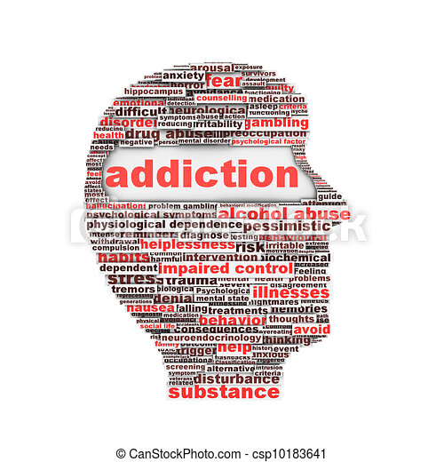 Addiction symbol concept - csp10183641