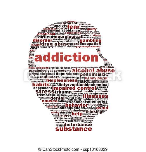 Addiction symbol isolated on white background - csp10183029