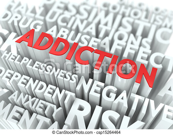 Addiction. The Wordcloud Concept. - csp15264464