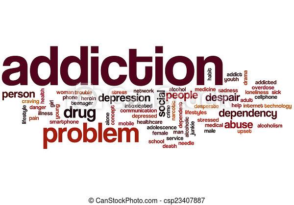 Addiction word cloud - csp23407887