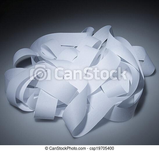 Adding Machine Tape in Pile - csp19705400