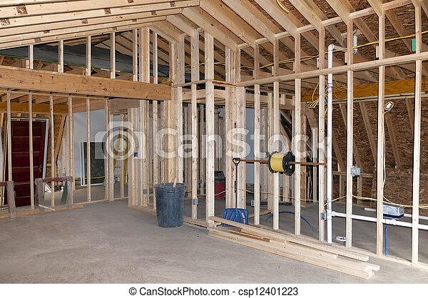 addition, nouveau, salle - csp12401223