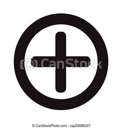 Additional plus Icon symbol Illustration design - csp33085307
