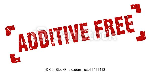 additive free stamp. square grunge sign isolated on white background - csp85458413