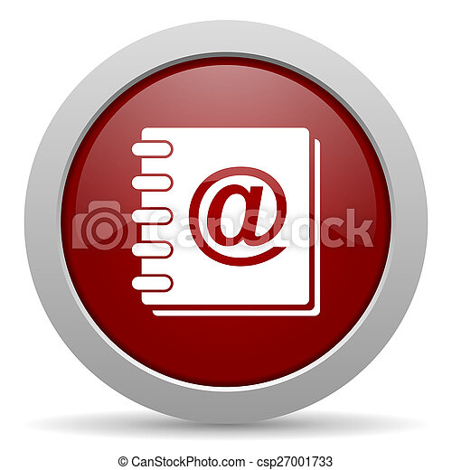 address book red glossy web icon - csp27001733