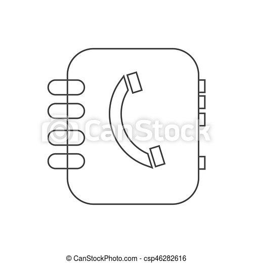 Address book vector - csp46282616