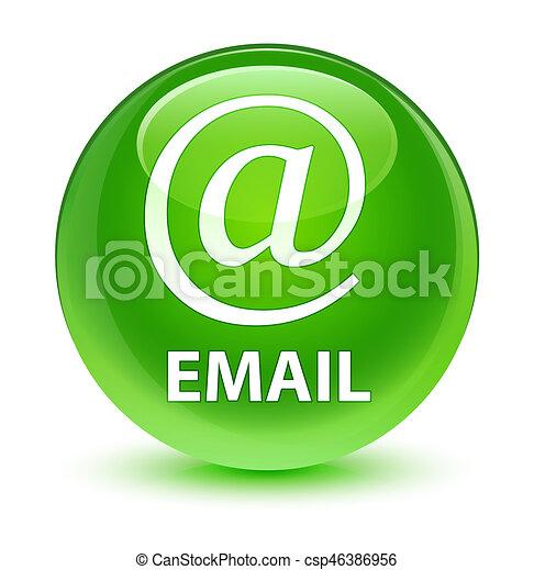 (address, vidrado, botão, icon), email, verde, redondo