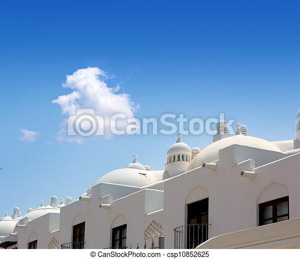Adeje Costa coast Paraiso in Tenerife white houses - csp10852625