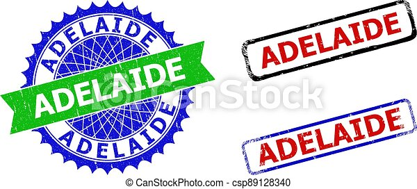 ADELAIDE Rosette and Rectangle Bicolor Seals with Corroded Surfaces - csp89128340
