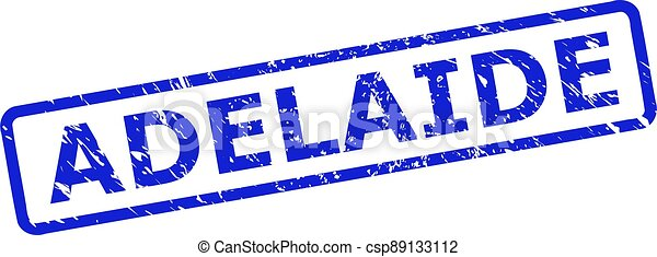 ADELAIDE Watermark with Unclean Surface and Rounded Rect Frame - csp89133112
