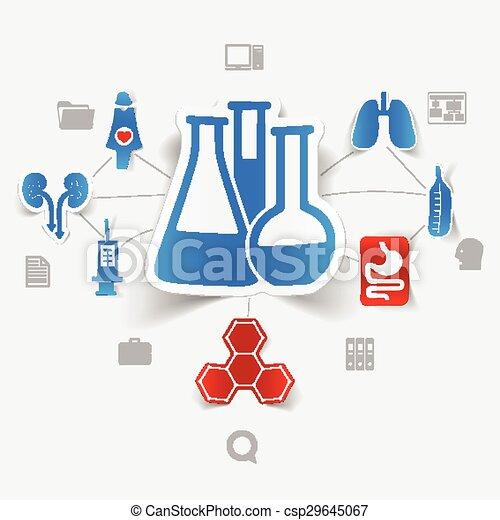 adesivo, medicina, infographic - csp29645067