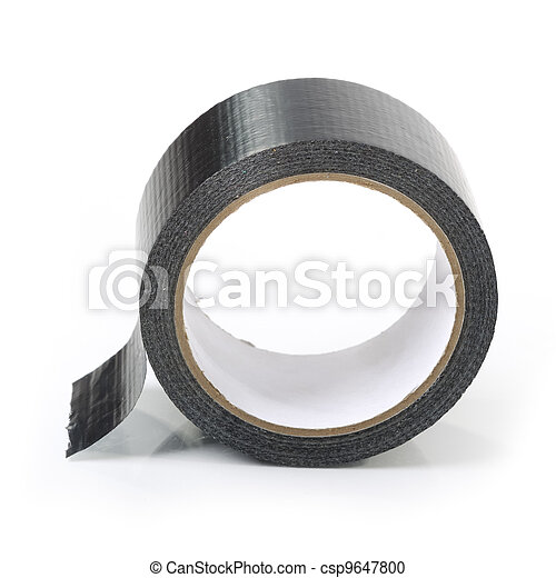 adesivo, nero, nastro - csp9647800