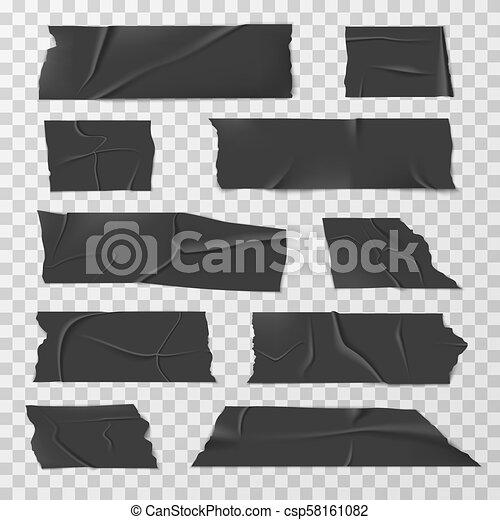 adhésif, ensemble, bandes, conduit, isolant, vecteur, bande, écossais, ou - csp58161082