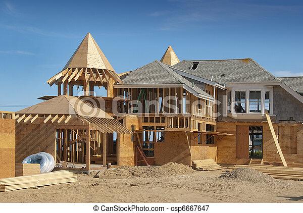 Adjunto en casa en construcción - csp6667647