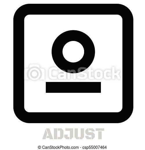 Adjust conceptual graphic icon - csp55007464