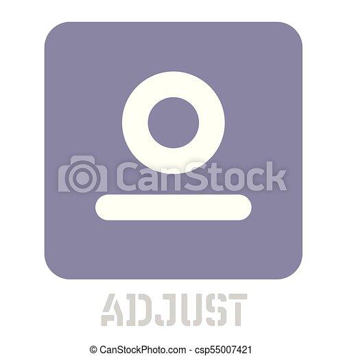 Adjust conceptual graphic icon - csp55007421