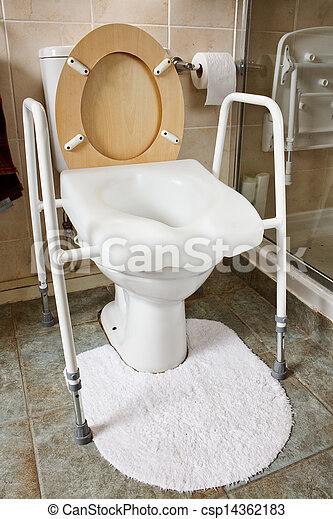 Adjustable height toilet seat - csp14362183