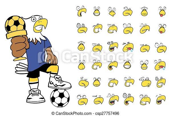 Adler Fussball Karikatur Set10 Kind