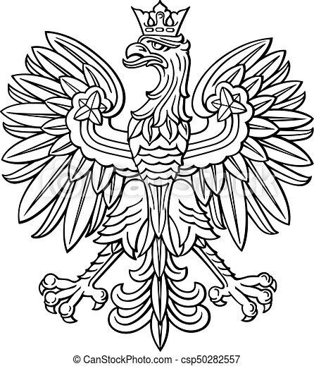 adler, mantel, national, arm, polnisch, polen - csp50282557