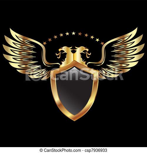 Goldadlerschild - csp7936933