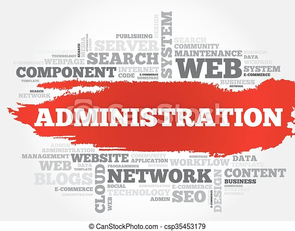 Administration word cloud - csp35453179