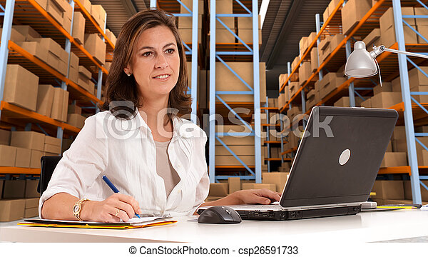 Administrative at distribution ware - csp26591733
