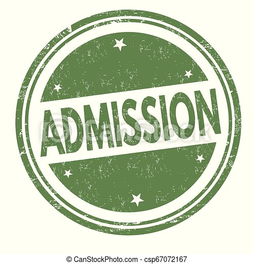 Admission sign or stamp - csp67072167