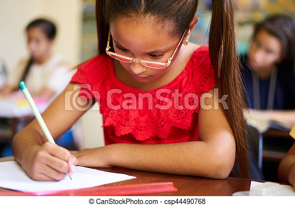 Admission Test And Examination For Group Of Students At School - csp44490768
