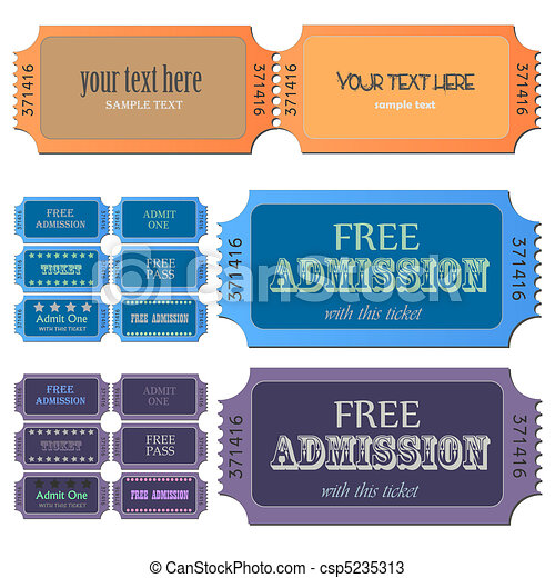 Admission Tickets - csp5235313