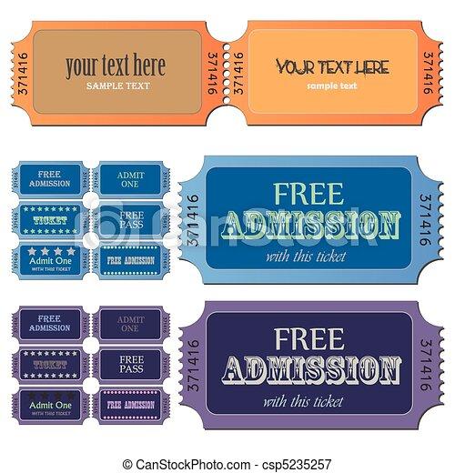 Admission Tickets - csp5235257