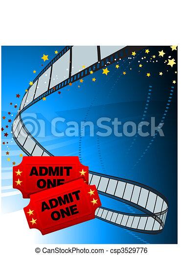 Admission Tickets with Film Strip - csp3529776