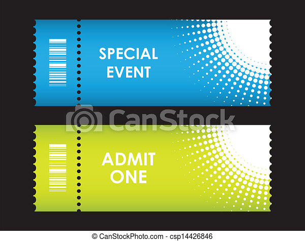 admit one cinema ticket - csp14426846